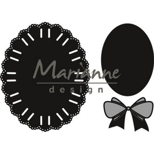 Marianne D Craftable Oval ribbon die CR1458 12.5x18 cm (01-19)