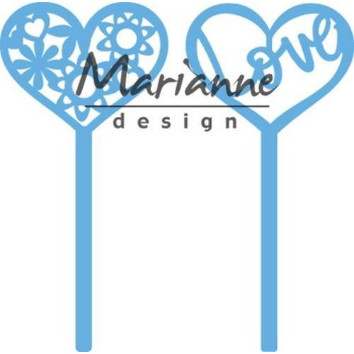 Marianne D Creatable Hart pins (set van 2) LR0573 11x16 cm (01-19)