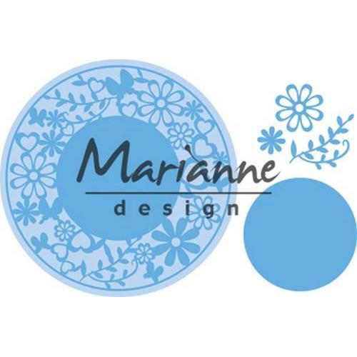 Marianne D Creatable Flower Frame rond LR0574 16x18.5 cm (01-19)