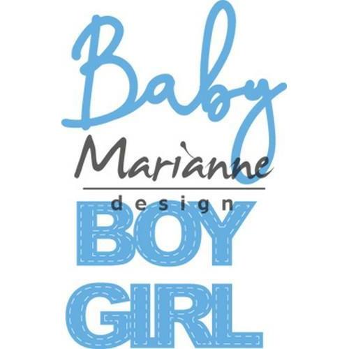 Marianne D Creatable Baby text boy & girl LR0576 11x16 cm (01-19)