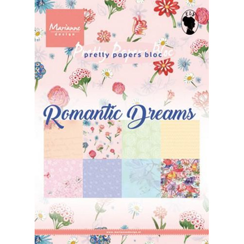 Marianne D paperpad Romantic Dreams A5 PK9160 (01-19)