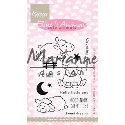 Marianne D Clear stamp Eline's Cute Animals - Schaap EC0175 18x10 cm (01-19)