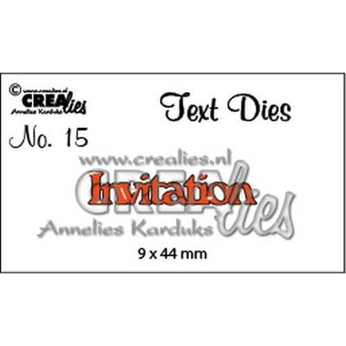 Crealies tekststans (Eng) nr. 15 Invitation CLTD15 9x44mm (12-18)