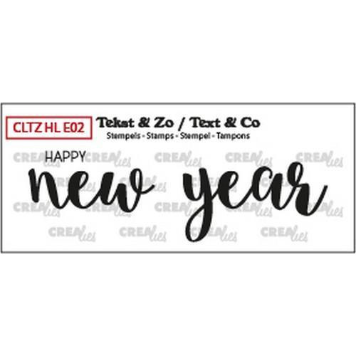 Crealies Clearstamp Text & Co Handlet.  happy new year solid CLTZHLE02 26x85mm (12-18)