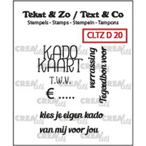 Crealies Clearstamp Tekst & Zo kadokaart tekst (NL) CLTZD20 29mm (12-18)