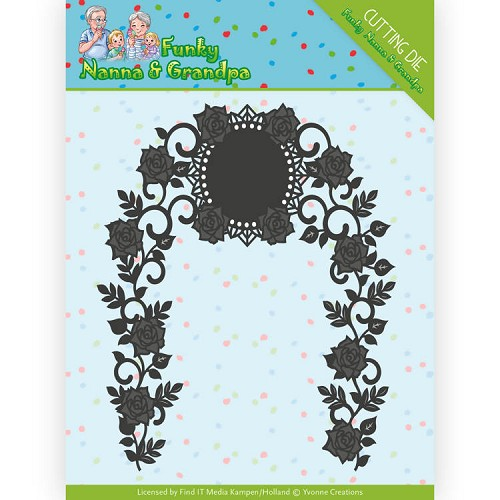 Dies - Yvonne Creations - Funky Nanna`s - Floral Arch