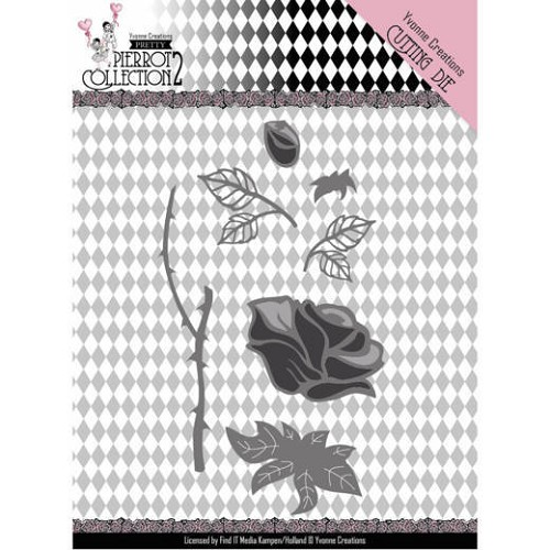 Dies - Yvonne Creations- Pretty Pierrot 2 - Rose