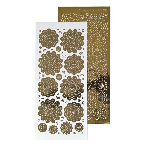 Nested Flowers stickers 7. mirror gold