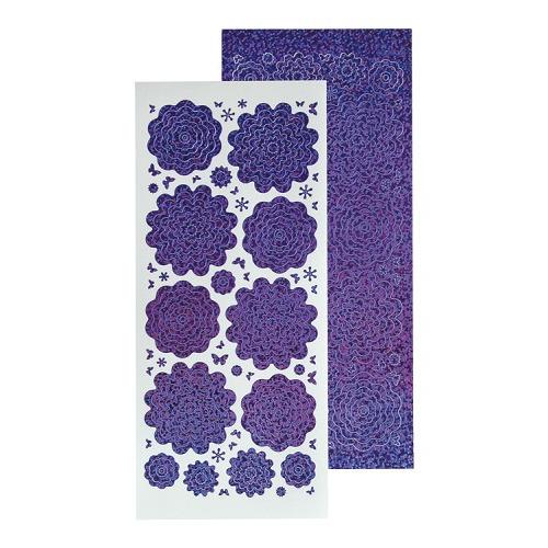 Nested Flowers stickers 2. diamond purple
