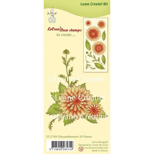 LeCreaDesign® clear stamp 3D Flower Chrysanthemum (combineren mogelijk met Leabilitie die 45.5664)