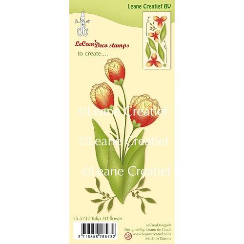 LeCreaDesign® clear stamp 3D Flower Tulip (combineren mogelijk met Leabilitie die 45.5657)