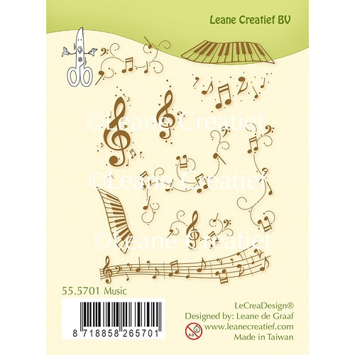 LeCreaDesign® combi clear stamp Music