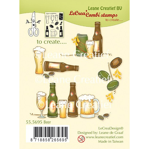 LeCreaDesign® combi clear stamp Beer
