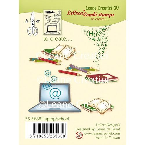 LeCreaDesign® combi clear stamp Laptop / School (combineren mogelijk met Leabilitie die 45.5015)