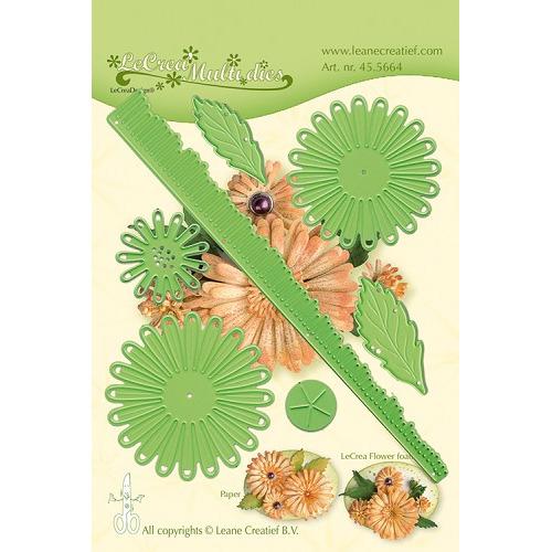 Leabilitie® Multi die flower 018 Chrysanthemum 3D snij en embossing mal