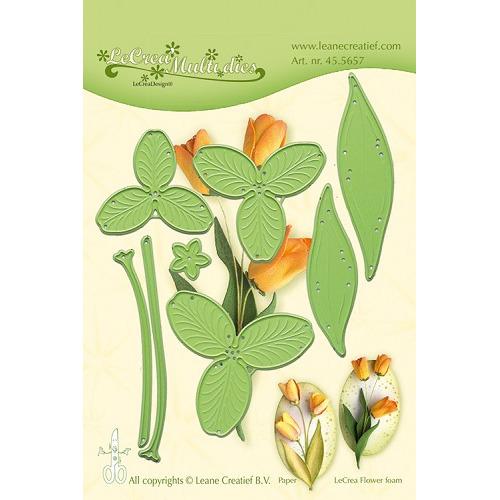 Leabilitie® Multi die flower 017 Tulip 3D snij en embossing mal