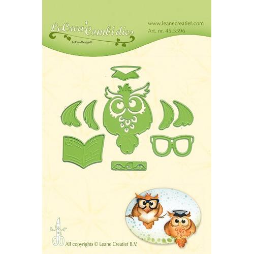 Leabilitie® Owl / Graduation snij en embossing mal