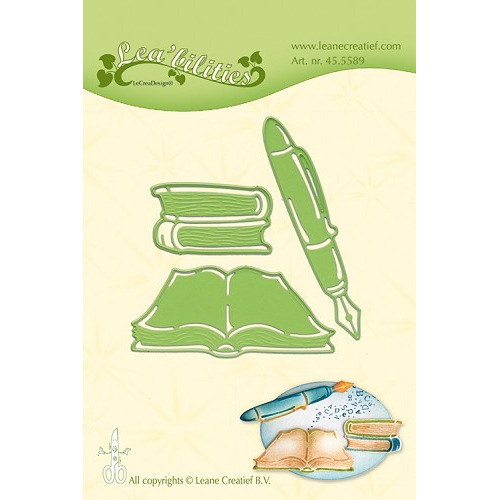 Leabilitie® Books & Pen snij en embossing mal
