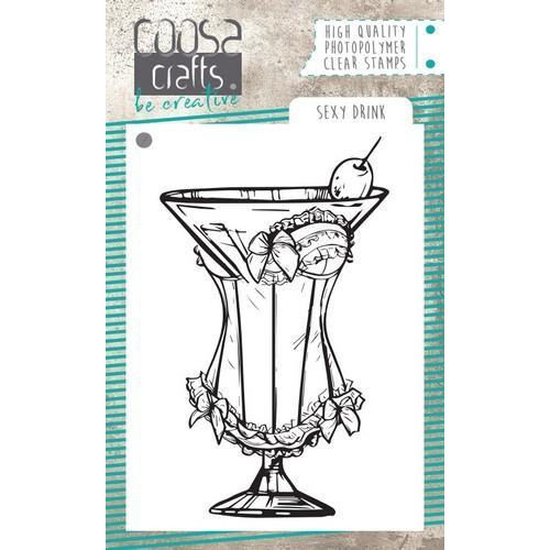 COOSA Crafts clearstamps A7 - Sexy Drink A7 COC-066 (01-19)