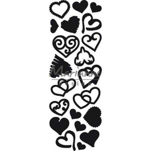 Marianne D Craftable Punch die Sweet Hearts CR1460 230x87mm (02-19)