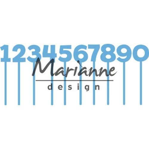 Marianne D Creatable Pins cijfers LR0582 79x79,5mm (02-19)