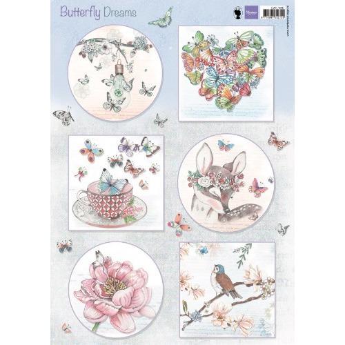 Marianne D 3D Knipvel Butterfly Dreams EWK1267 A4 (02-19)