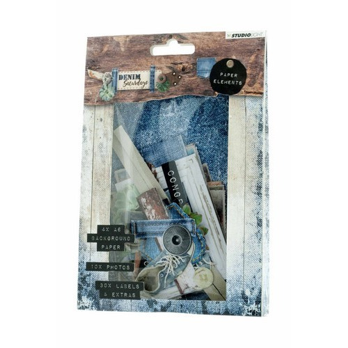 Studio Light Easy Die Cut Paper Set  nr 645 Denim Saturdays EASYDEN645 (01-19)