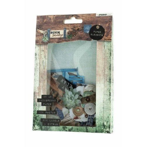 Studio Light Easy Die Cut Paper Set  nr 646 Denim Saturdays EASYDEN646 (01-19)
