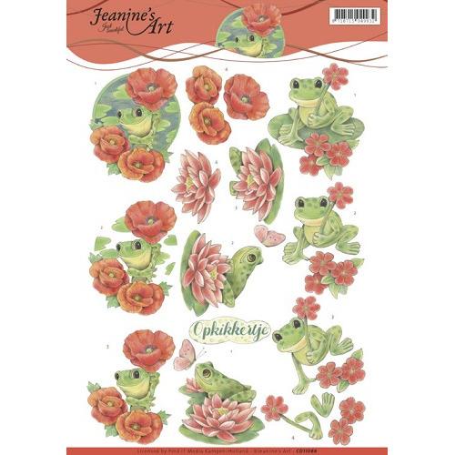 3D Knipvel - Jeanine`s Art - Frogs
