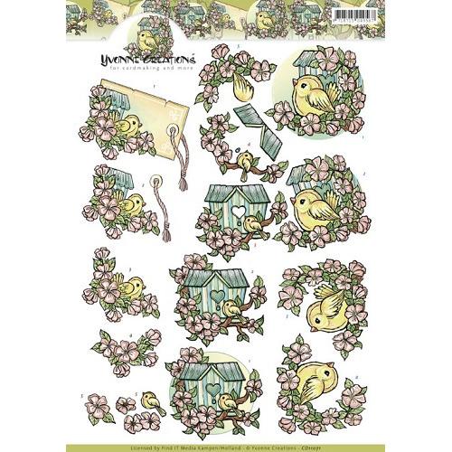 3D Knipvel - Yvonne Creations - Birdhouses