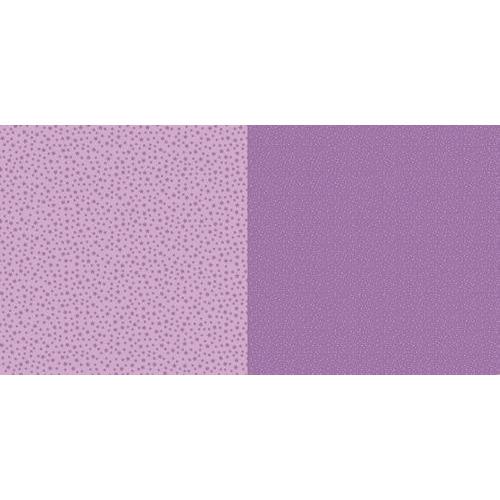 Dini Design Scrappapier 10 vl Stippen bloemen - Violet paars 30,5x30,5cm #2002 (02-19)
