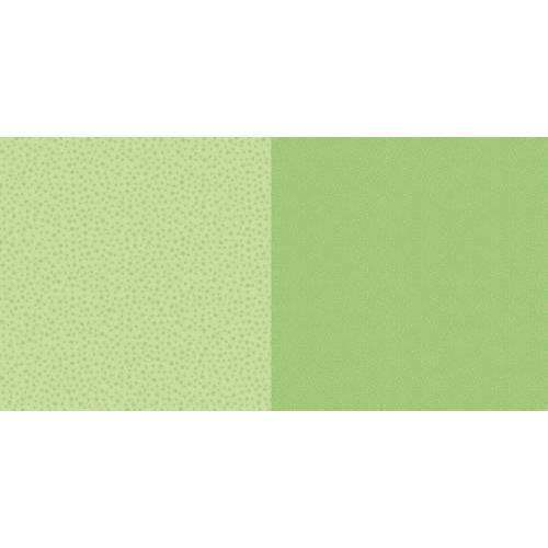 Dini Design Scrappapier 10 vl Stippen bloemen - Lime groen 30,5x30,5cm #2003 (02-19)
