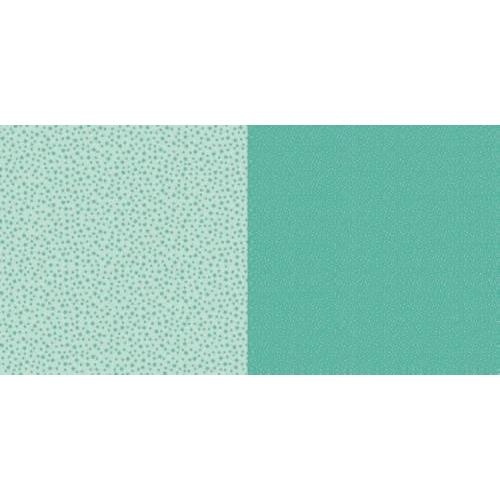 Dini Design Scrappapier 10 vl Stippen bloemen - Mintgroen 30,5x30,5cm #2004 (02-19)