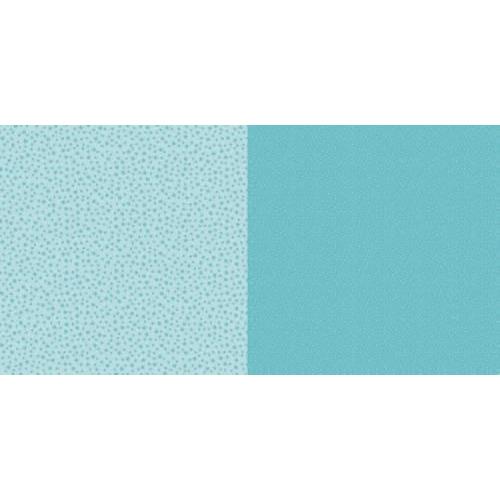 Dini Design Scrappapier 10 vl Stippen bloemen - Lagoon blauw 30,5x30,5cm #2005 (02-19)