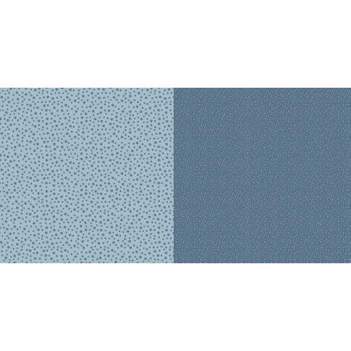Dini Design Scrappapier 10 vl Stippen bloemen - Zweeds blauw 30,5x30,5cm #2006 (02-19)