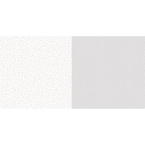 Dini Design Scrappapier 10 vl Stippen bloemen - Zilvergrijs 30,5x30,5cm #2007 (02-19)