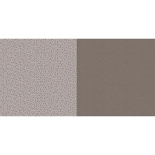 Dini Design Scrappapier 10 vl Stippen bloemen - Mokkabruin 30,5x30,5cm #2009 (02-19)