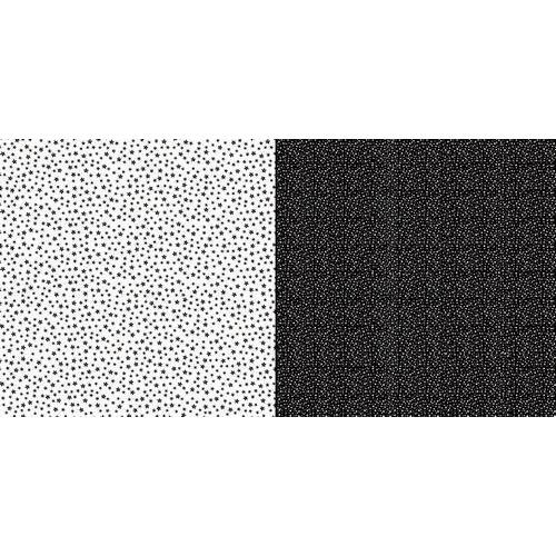 Dini Design Scrappapier 10 vl Stippen bloemen - Middernacht 30,5x30,5cm #2010 (02-19)