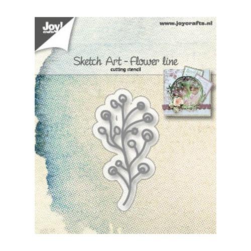Snijstencil - Sketch Art - Bloemen-lijn