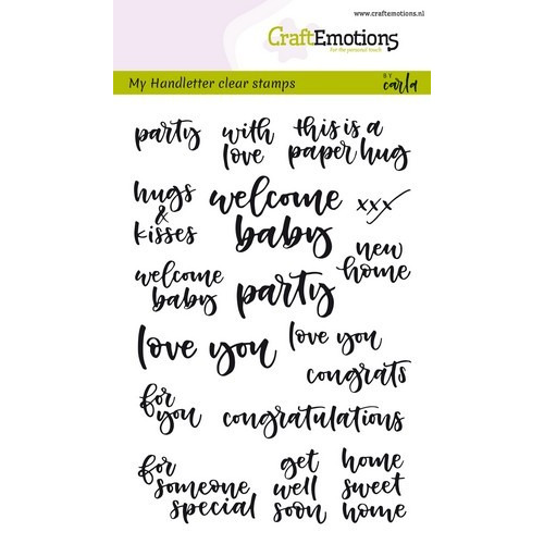 CraftEmotions clearstamps A6 - handletter - card moments (Eng) Carla Kamphuis (02-19)
