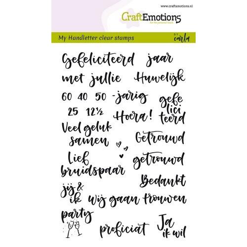 CraftEmotions clearstamps A6 - handletter - huwelijk (NL) Carla Kamphuis (02-19)