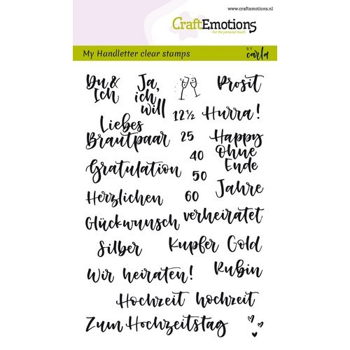 CraftEmotions clearstamps A6 - handletter - Hochzeit (DE) Carla Kamphuis (02-19)