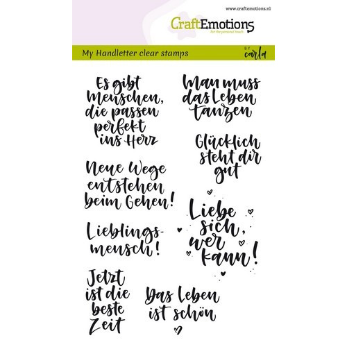CraftEmotions clearstamps A6 - handletter - Quotes (DE) Carla Kamphuis (02-19)