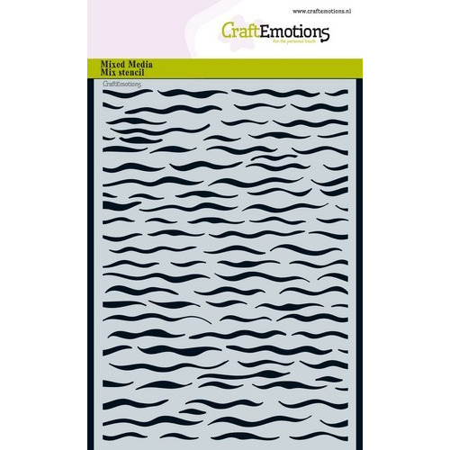 CraftEmotions Mask stencil - golven A5 A5 (02-19)