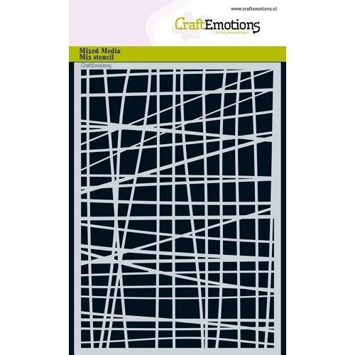 CraftEmotions Mask stencil - lijnen ruit onregelmatig A5 A5 (02-19)
