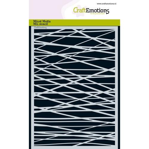 CraftEmotions Mask stencil - lijnen ruit kruislings onreg. A5 A5 (02-19)