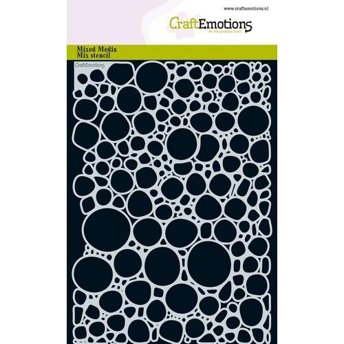CraftEmotions Mask stencil - water bellen 1 A5 A5 (02-19)