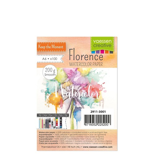 Florence  Aquarelpapier smooth A6 100pcs