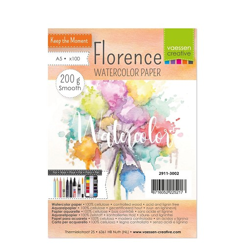 Florence  Aquarelpapier smooth A5 100pcs