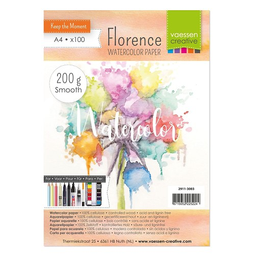 Florence  Aquarelpapier smooth A4 100pcs